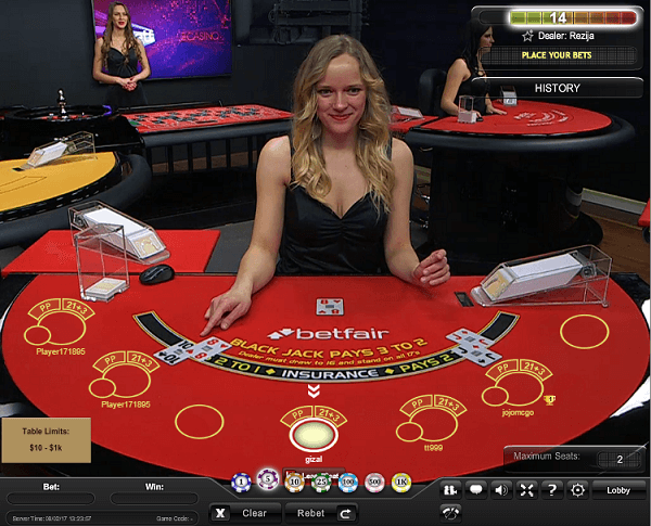 Best Online Live Dealer Blackjack