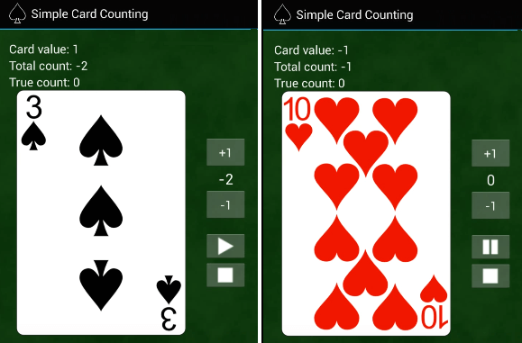 blackjack card counting app easy mode