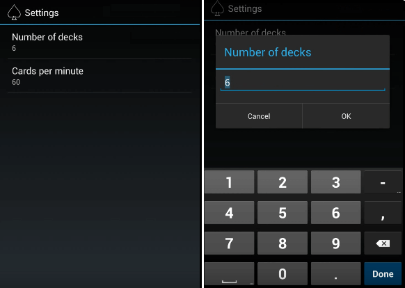 blackjack card counting app modes