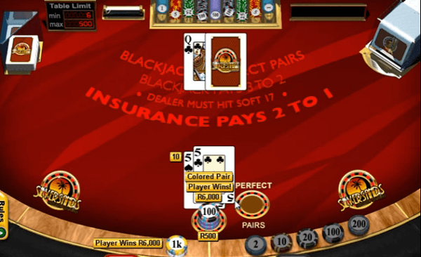 Blackjack Perfect Pairs Strategy