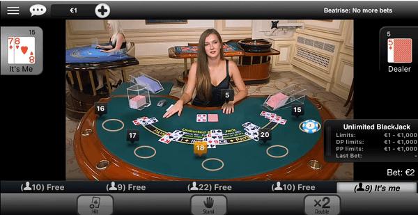 blackjack strategy table play