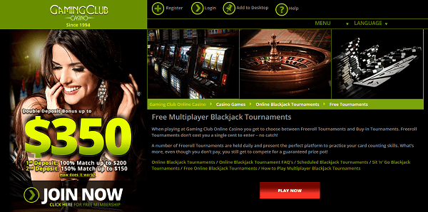 free online blackjack tournaments