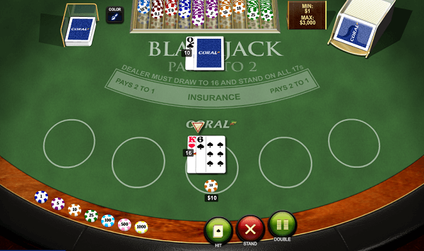 Online Blackjack Simulator  game