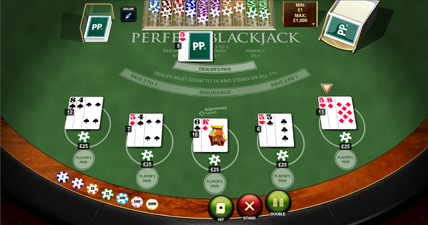Perfect Blackjack table