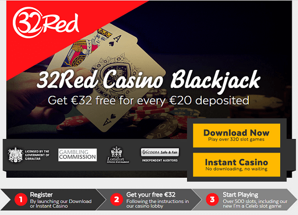 32Red Blackjack Bonus