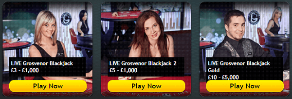Grosvenor Casino Live BlackJack