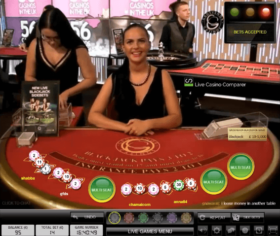 Blackjack rules uk